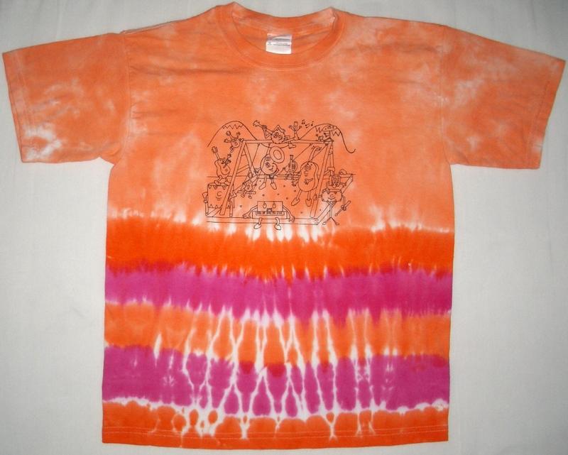 Banded Orange w/ Fuschia