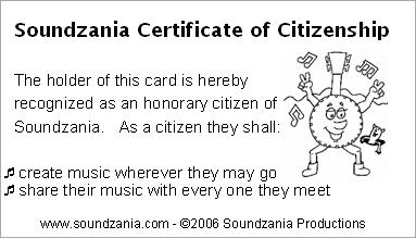 Soundzania Citizen Card