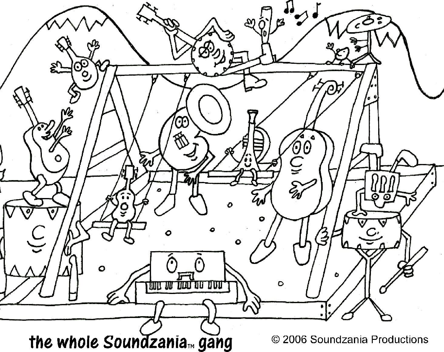 Soundzania Coloring Pages Coloring Pages For Elementary